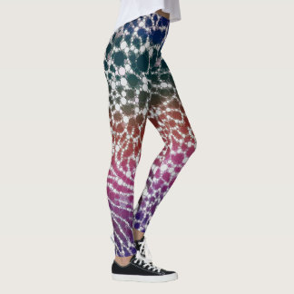 Rainbow Cheetah Print Womens Leggings