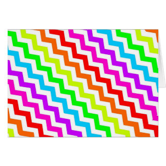 Rainbow chevron card