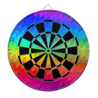 Rainbow chevron dart board