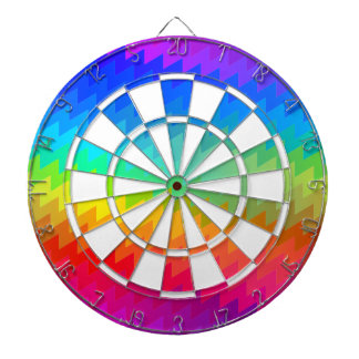 Rainbow chevron dartboards