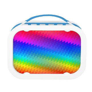 Rainbow chevron lunch box