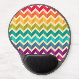 Rainbow Chevron Mod Zig Zag Gel Mouse Pad