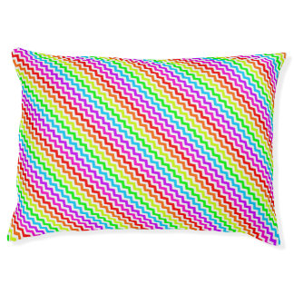 Rainbow chevron pet bed