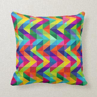 Rainbow Chevron Pillow Throw Cushion