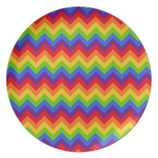 Rainbow Chevron Plate
