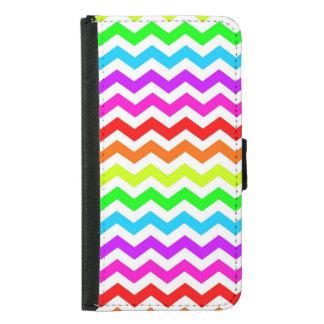 Rainbow chevron samsung galaxy s5 wallet case