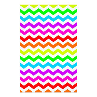 Rainbow chevron stationery