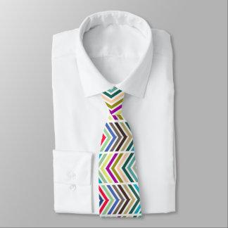 Rainbow Chevron Tie
