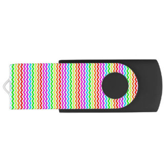Rainbow chevron USB flash drive
