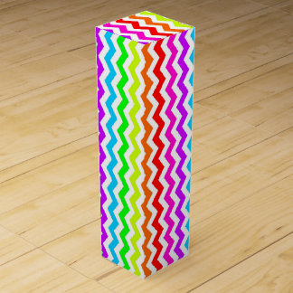 Rainbow chevron wine box