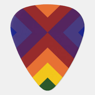 Rainbow Chevrons Guitar Pick