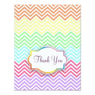 Rainbow Chevrons Thank You Card 11 Cm X 14 Cm Invitation Card