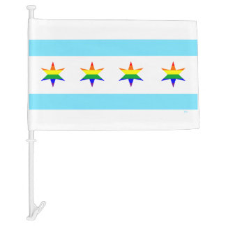 Rainbow Chicago Pride Flag