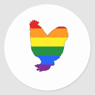 Rainbow Chicken Classic Round Sticker