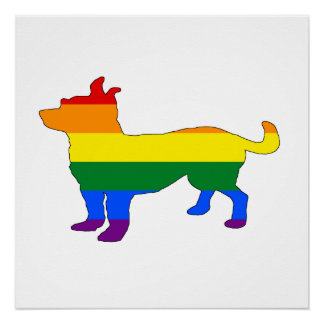 Rainbow Chihuahua Poster