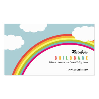 Browse the Childcare Business Cards Collection and personalise by colour, design or style.