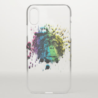 Rainbow Chimpanzee iPhone X Case