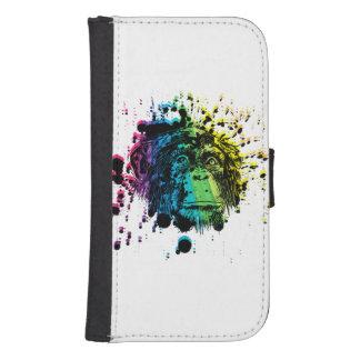 Rainbow Chimpanzee Samsung S4 Wallet Case