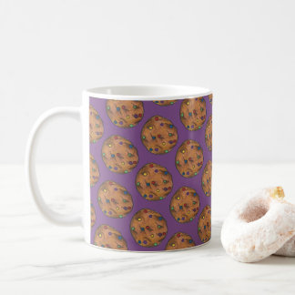 Rainbow Chocolate Chip Cookie Baking Sweets Purple Coffee Mug