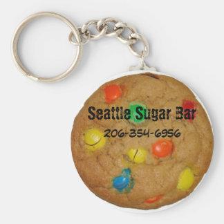 Rainbow chocolate Chip Cookie Key Chain