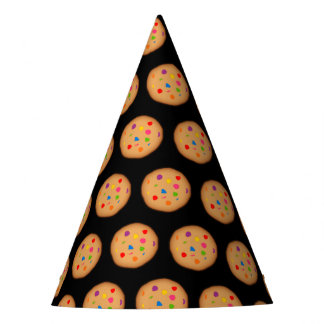 Rainbow Chocolate Chip Cookie Pattern Party Hat
