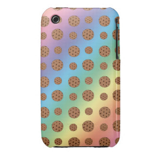 Rainbow chocolate chip cookies pattern iPhone 3 cover