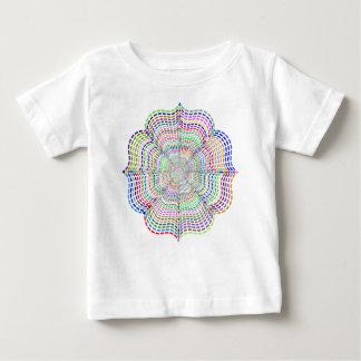 Rainbow Chromatic Mandala Flower Baby T-Shirt