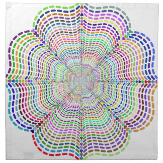 Rainbow Chromatic Mandala Flower Napkin