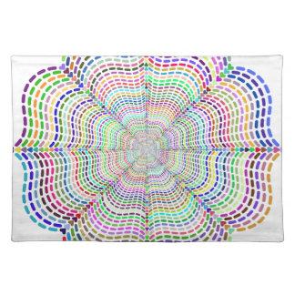 Rainbow Chromatic Mandala Flower Placemat