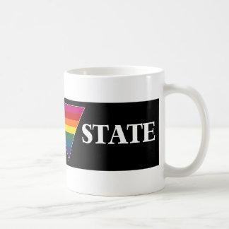 rainbow church triangle state (black) basic white mug