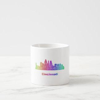 Rainbow Cincinnati skyline