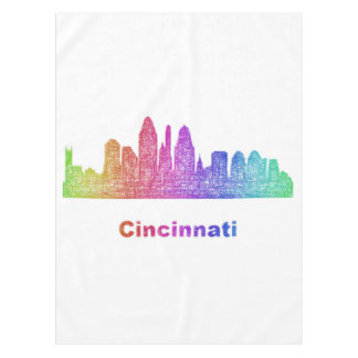 Rainbow Cincinnati skyline Tablecloth