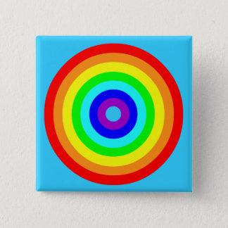 Rainbow circle 15 cm square badge