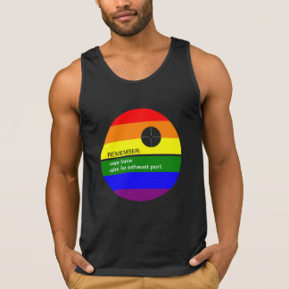 Rainbow Circle Gay Nerd Use Force Singlet