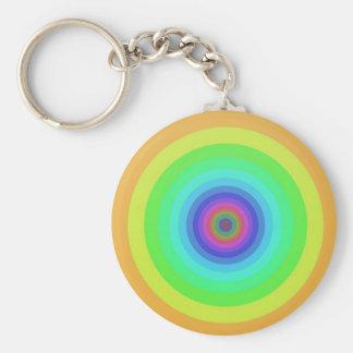 Rainbow circles key chains