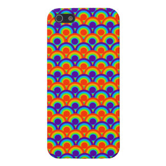 Rainbow Circles Pattern Covers For iPhone 5