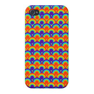 Rainbow Circles Pattern iPhone 4/4S Case