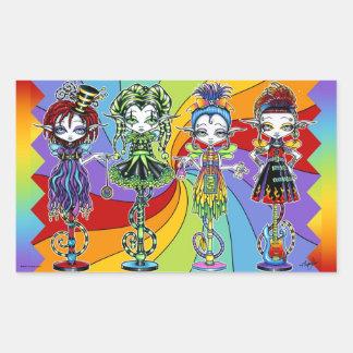 Rainbow Circus Pixie Stick Freaks Sticker