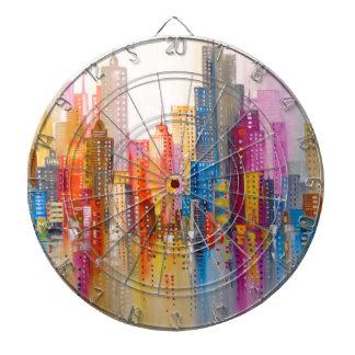Rainbow city dartboard