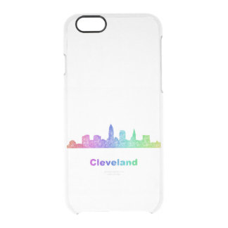 Rainbow Cleveland skyline Clear iPhone 6/6S Case