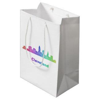 Rainbow Cleveland skyline Medium Gift Bag