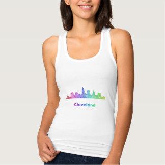 Rainbow Cleveland skyline Singlet