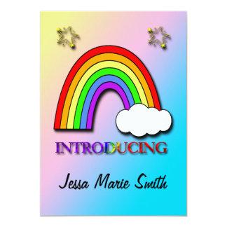 Rainbow Cloud Birth Announcement