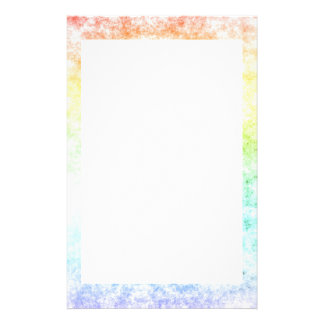 Rainbow Cloud Cloudy Day Stationery Paper