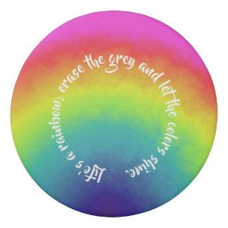 rainbow cloud - eraser