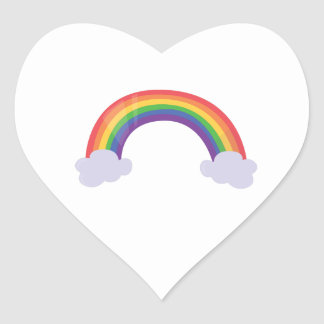 Rainbow Cloud Heart Sticker