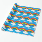 Rainbow Cloud Image Wrapping Paper