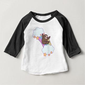 Rainbow Cloud Sloth Baby T-Shirt