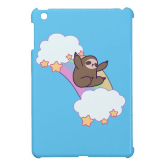 Rainbow Cloud Sloth iPad Mini Cases
