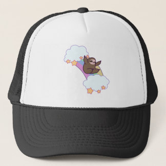 Rainbow Cloud Sloth Trucker Hat